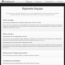 Recrutement - UTOPIAWEB