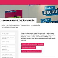 Recrutement à la Ville de Paris