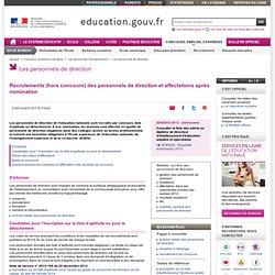 Concours et recrutement des personnels de direction - Ministère de l'éducation nationale