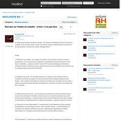 Recruter sur Viadeo et LinkedIn : à faire / à ne pas faire