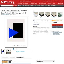 Black Rectangle, Blue Triangle, c.1915 Serigraph by Kasimir Malevich