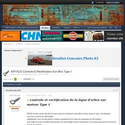 ARTICLE Controle Et Rectification d'un Bloc Type 1 - Articles Techniques