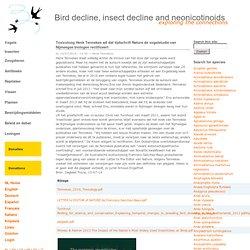 Het nooit gepubliceerde artikel van VOX redacteur Van den Broek - niet de tekst zoals in pearltrees maar via de link boerenlandvogels