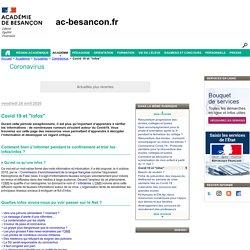 """Covid 19 et """"infox"""" - Rectorat de l'académie de Besançon"""