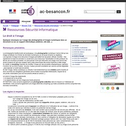 Le droit ? l'image - Mission TICE - Rectorat de l'acad?mie de Besan?on