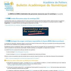 Rectorat de Poitiers : bulletin académique du numérique - lecture d'un message