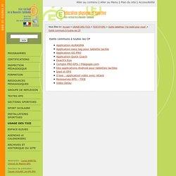Outils communs à toutes les CP - Site EPS du vice-rectorat de la Nouvelle-Calédonie
