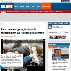 Paris: un mois après, toujours le recueillement sur les sites des attentats