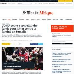 L'ONU peine à recueillir des fonds pour lutter contre la famine en Somalie
