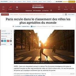 Paris recule dans le classement des villes les plus agréables du monde