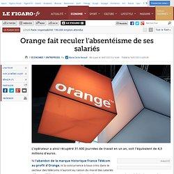 Orange fait reculer l'absentéisme de ses salariés