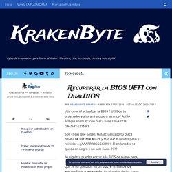 Recuperar la BIOS UEFI con DualBIOS