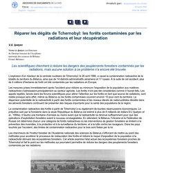 RÉCUPÉRATION DES SITES DÉGRADÉ- Unasylva 207