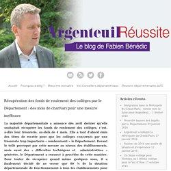 Département du Val d'Oise - Récupération des fonds de roulement des collèges par le Département : des mois de charivari pour une mesure inefficace - 2015