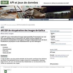 API IIIF de récupération des images de Gallica