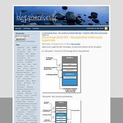 Exchange 2010 SP1 – Récupération d'éléments supprimés.