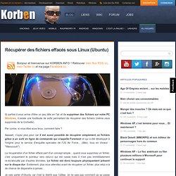 Récupérer des fichiers effacés sous Linux (Ubuntu)
