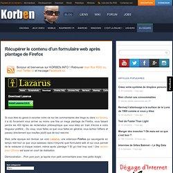 Lazarus récupère le contenu d'un formulaire dans firefox