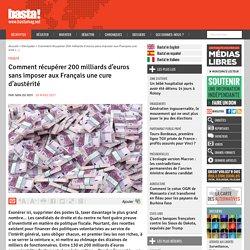 Comment récupérer 200 milliards d'euros sans imposer aux Français une cure d'austérité