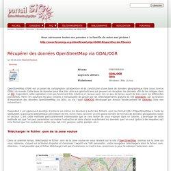 Récupérer des données OpenStreetMap via GDAL/OGR