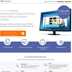 Recupero Dati per Windows e Mac, Specializzato nel Recupero di Foto, Video e Musica