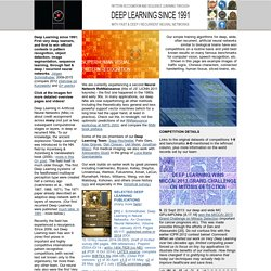 Very Deep Learning Since 1991 - Fast & Deep / Recurrent Neural Networks. Deeplearn it! www.deeplearning.it (official site)