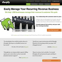 Recurring Billing, Subscription Billing, Web 2.0 and SaaS Billing - Chargify