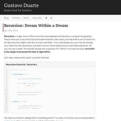 Recursion: Dream Within a Dream