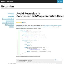 Recursion – Java, SQL and jOOQ.