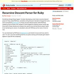 Recursive Descent Parser for Ruby