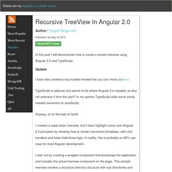 Recursive TreeView in Angular 2.0