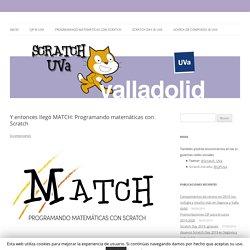 MATCH: recursos para aprender matemáticas con Scratch