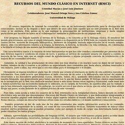 Recursos del mundo clasico en Internet