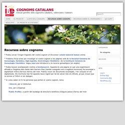 Recursos sobre cognoms « COGNOMS CATALANS
