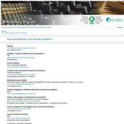 Recursos didácticos - Uso educativo de web 2.0