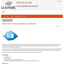 Editor de recursos digitales Cloudbook
