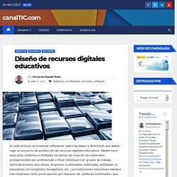 Diseño de recursos digitales educativos