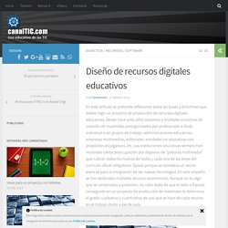 Diseño de recursos digitales educativos
