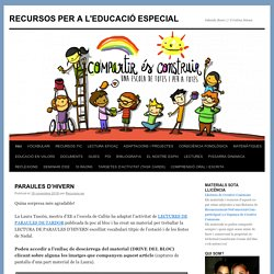 RECURSOS PER A L'EDUCACIÓ ESPECIAL