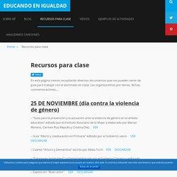Recursos para clase – Educando en igualdad