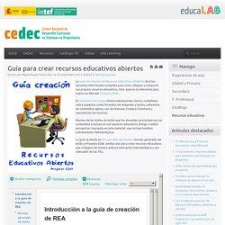 Guía para crear recursos educativos abiertos