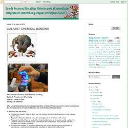 Uso de Recursos Educativos Abiertos para AICLE: CLIL UNIT: CHEMICAL BONDING