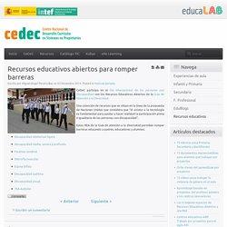 Recursos educativos abiertos para romper barreras