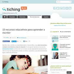 15 recursos educativos para aprender a escribir