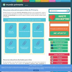 Recursos educativos y material didáctico para niños de Primaria