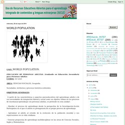Uso de Recursos Educativos Abiertos para AICLE: WORLD POPULATION
