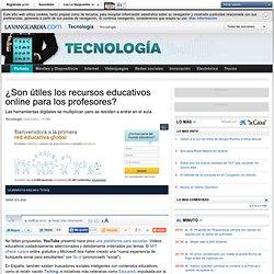 Son útiles los recursos educativos online para profesores