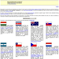 Recursos Electorales en la Internet / Election Resources on the Internet
