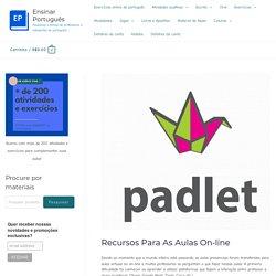 Recursos para as aulas on-line : Ensinar Português