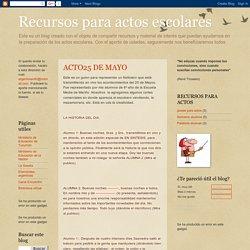 Recursos para actos escolares: ACTO25 DE MAYO